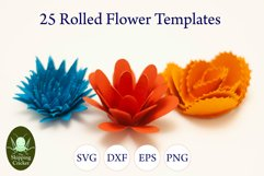 25 Rolled flowers svg, cutfiles, paper craft templates Product Image 3