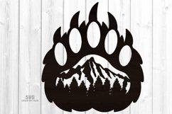 Bear Paw SVG Glowforge Sign Bear Laser Files Mountain Décor Product Image 1