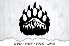 Mountain Bear Paw SVG Cut Files Product Image 3