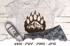 Mountain Bear Paw SVG Cut Files Product Image 5