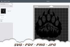 Mountain Bear Paw SVG Cut Files Product Image 2