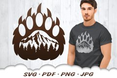 Mountain Bear Paw SVG Cut Files Product Image 1