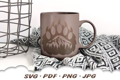 Mountain Bear Paw SVG Cut Files Product Image 4