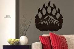 Bear Paw SVG Glowforge Sign Bear Laser Files Mountain Décor Product Image 2