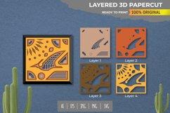 3D Papercut Beautiful Dino Layered Template Product Image 1