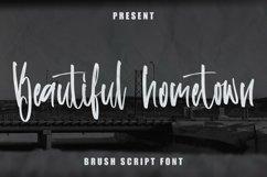 Web Font Beautiful Hometown - Brush Script Font Product Image 1