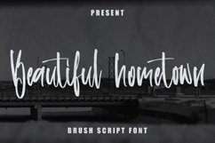 Beautiful Hometown - Brush Script Font Product Image 1