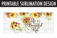 Beautiful Ride Bicycle Mug Wrap Sublimation | 11 oz & 15 oz Product Image 2