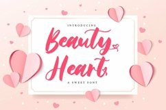 Web Font Beauty Heart - A sweet Font Product Image 1