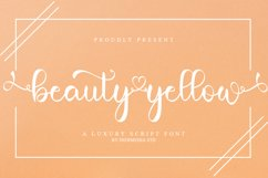 Beauty Yellow - A Luxury Calligraphy Font Product Image 1
