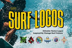 Retro Surf Logo Templates Product Image 1