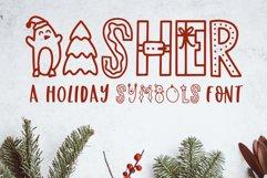 Dasher, A Christmas Holiday Symbols Font Product Image 1