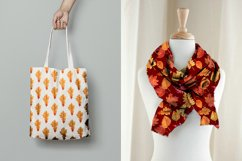Watercolor Autumn leaves patterns Product Image 4