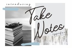 take notes typeface Product Image 1