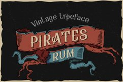 Pirates rum vintage typeface Product Image 1
