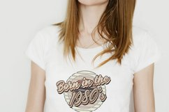 Retro born in the 1980s sublimation png, 1980s T-shirt desig Product Image 4