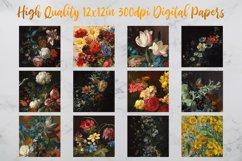 Vintage Flowers Oil Painting Digital Paper - Vol 3 Product Image 2