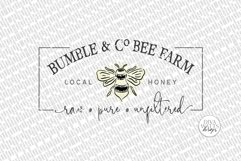 Bumble & Co Bee Farm SVG   Farmhouse Bees Sign   dxf & More Product Image 2