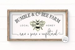 Bumble & Co Bee Farm SVG   Farmhouse Bees Sign   dxf & More Product Image 1