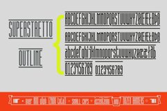 Superstretto Geometric banner logofont 4 family font Product Image 5