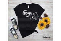 Fall Mockup | Bella Canvas 3001 T-shirt | Black Product Image 1