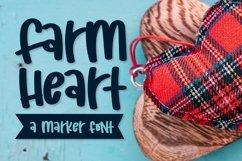Web Font Farm Heart - A Mixed Caps Marker Font Product Image 1