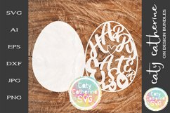 Hoppy Easter Egg Card Template SVG Cut File Product Image 1