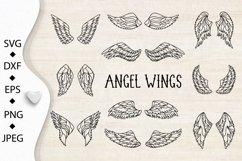 Wings bundle svg. Angel wings clipart. Fairy wings cut files Product Image 4