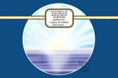 Sunrise Seas - Round - 4 images different colour borders Product Image 2