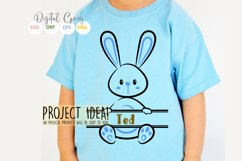 Split Bunny Rabbits, Easter SVG / DXF / EPS / PNG files Product Image 3