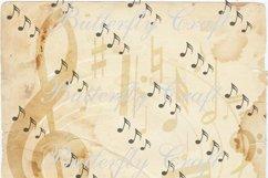 Music notes scrapbook paper, Vintage music digital paper Product Image 4