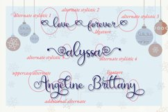 All Alyssa - Calligraphy Heart Accent Font Product Image 2