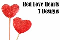 Red Love Hearts on Sticks Squeeb Creative