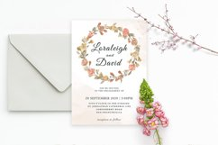 Modern Floral Wedding Invitation Template Product Image 2