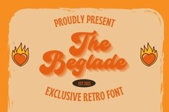 Web Font Beglade Font Product Image 1