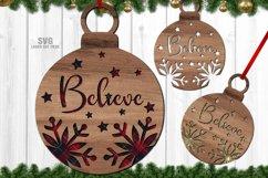 Christmas Ornament SVG Glowforge Laser Files Bundle Product Image 5