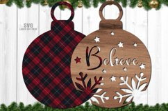 Christmas Ornament SVG Glowforge Laser Files Bundle Product Image 4
