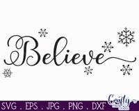 Christmas Svg, Farmhouse Svg Farmhouse Christmas Believe Svg Product Image 2