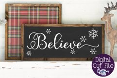 Christmas Svg, Farmhouse Svg Farmhouse Christmas Believe Svg Product Image 1