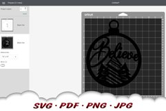 Believe Christmas Tree Ornament SVG Files For Cricut Product Image 2
