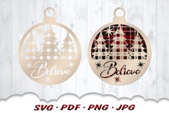 Believe Christmas Ornament SVG Bundle With Files For Cricut Product Image 4