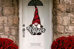 Believe Gnome Christmas Sign SVG Glowforge Laser Files Product Image 2
