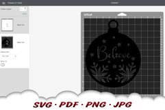 Believe Christmas Ornament SVG Files For Cricut Product Image 2