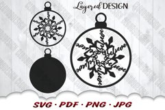 Snowflake Christmas Ornament SVG Files For Cricut Product Image 3