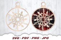 Snowflake Christmas Ornament SVG Files For Cricut Product Image 1