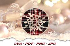 Snowflake Christmas Ornament SVG Files For Cricut Product Image 4