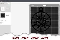 Snowflake Christmas Ornament SVG Files For Cricut Product Image 2