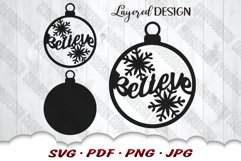 Believe Christmas Ornament SVG Files For Cricut Product Image 3