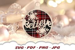 Believe Christmas Ornament SVG Files For Cricut Product Image 5