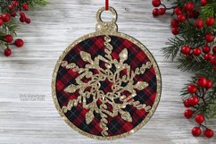 Christmas Believe Snowflake Ornament SVG Glowforge Files Product Image 3